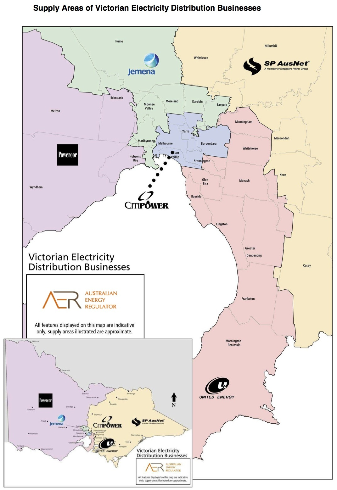 list of electricity retailers and distributors in victoria